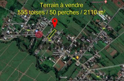 Terrain de 50 perches / 2111 m2 / 555 toises à vendre à Bonne Veine Rd, L'Espérance, Quartier Militaire